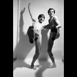 Sin título, 1964 ca Foto performance junto a Pablo Suarez